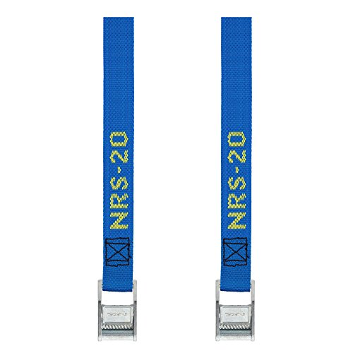 NRS 1-Inch Heavy-Duty Tie-Down Straps, Blue (20-Foot)- Pair