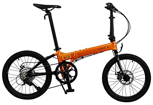 Dahon Launch D8 Folding Bicycle, Orange/Black for sale  Delivered anywhere in USA