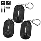Cheap Personal Alarm Keychain, Seeus 140db SOS Emergency Personal Alarm Self-Defense Security Alarm Keychain with Bright LED Light for Elderly Kids Women Adventurer Night Workers Anti-theft Alarm (3 Pack)