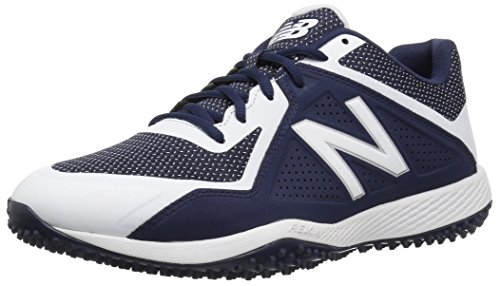 New Balance Men's T4040v4 Turf Baseball Shoe, Navy/White, 7 D US