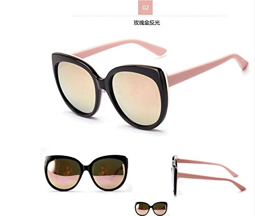 Skuleer(TM)Oversized Sunglasses Women Luxury Brand Designer Cateye Sunglass Mirror Sun Glasses For Woman gafas de sol mujer lunette - Sun Glas