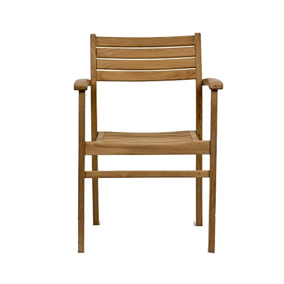 Amazonia Teak Coventry 2-Piece Teak Stacking Chairs - Amazonia Teak Collection 2 stacking armchairs 20w x 22d x 31h seating: 16Dx18Wx16H High Quality Teak Wood (Tectona Grandis) - patio-furniture, patio-chairs, patio - 416GOWpl45L. SS570  -
