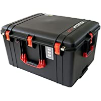 Black & Red Pelican 1637 NO Foam Air case. Comes with wheels.