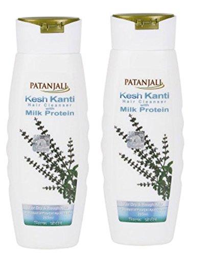 Patanjali Kesh Kanti Milk Protein Hair Cleanser 200ml Pac...