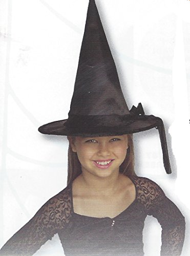 Gerson Child's Silk Witch Hat with Black Velvet Band and Rim Costume Accessory (Black)]()