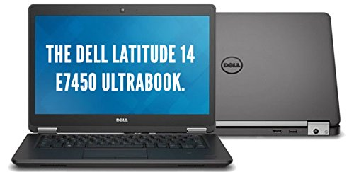 Fast Dell Latitude E7450 FHD (1920x1080) Ultra Book Business Laptop Notebook (Intel Core i5-5300U, 8GB Ram, 256GB Solid State SSD, Camera, HDMI, WiFi) Win 10 Pro (Renewed)