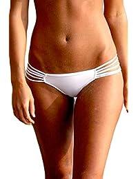 YACUN Women's Strappy String Bikini Bottom Cheeky Beach Shorts