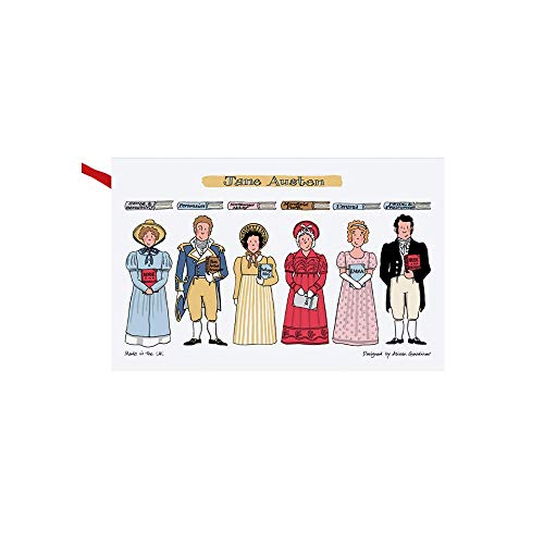 Jane Austen Books Pride & Prejudice Sense & Sensibility Mansfield Park Northanger Abbey Characters on Kitchen Towels and Dish Cloths Teacher Gifts for Women 29