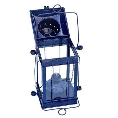 Cargo Oil Lamp Size: 18″ H x 9.5″ W x 7.5″ D, Finish: Dark Blue