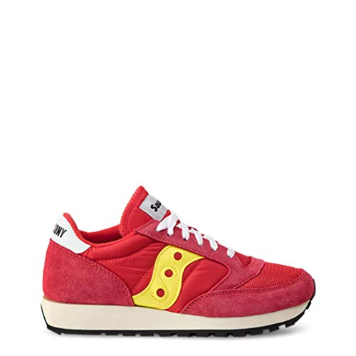 Saucony Mens Jazz Original Vintage Suede Mesh Red Yellow Trainers 11.5 US