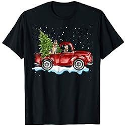 German Shepherd Pickup Truck Christmas Tshirt