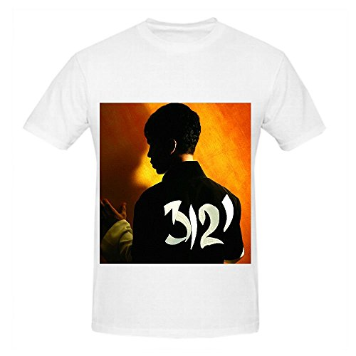 Prince 3121 Tour Tracks Mens O Neck Cotton Tee White (Buzz Lightyear Fancy Dress Adult)