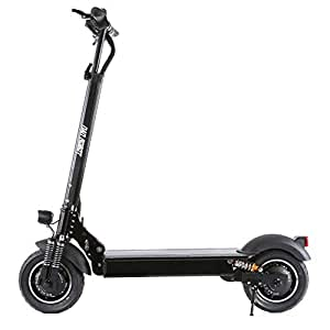 """NANROBOT D4+ 10"""" 2000W Motor Powerful Adult Electric Scooter Lightweight Foldable 45 Miles Long Range Speed 40 MPH (D4+ Electric Scooter)"""
