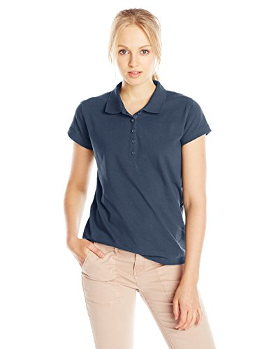 Classroom Junior's Stretch Pique Polo, Dark Navy, XX-Large