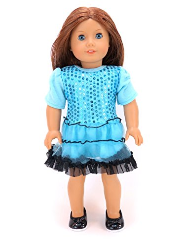 18-Inch-Doll-Clothes-Teal-Sequin-Designed-Dress-American-Girl-DOLL-IS-NOT-INCLUDED