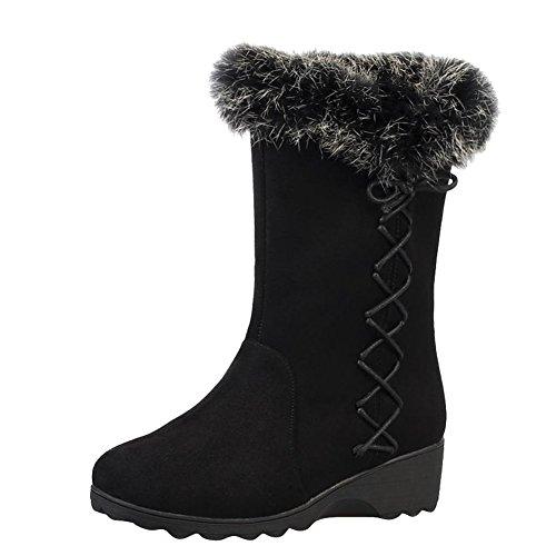 compensées Shoes revers de pour femmes concises à manchettes Carol Bottes neige x0U6SwwqH
