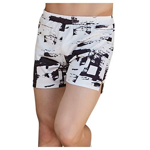 Mwzzpenpenpen Fashion Men Shorts Lightweight Loose Swimwear Wear Print Swimming Trunks Quickly Dry Casual Beach Pants