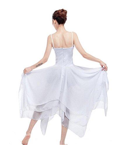 jupe danse femme Ballet white performance et d'entraînement moderne robe U7wwqf