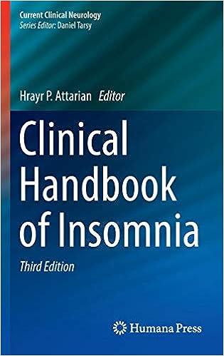 Clinical Handbook of Insomnia (Current Clinical Neurology)