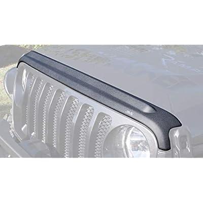 Auto Ventshade 436148 Matte Black Aeroskin II Textured Hood Protector for Jeep Wrangler and Gladiator (JL): Automotive