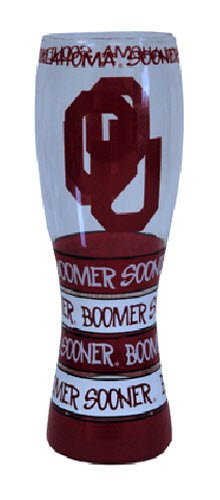 Game Day Outfitters NCAA Oklahoma Sooners Drinkware Pilsner Glass, One Size/24 oz, - Game Pilsner Glass