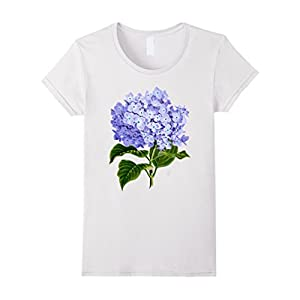 Women's Delightful Hydrangea Tee Small White
