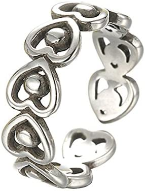レディース ファション 指輪 リング 可愛い ハート 透かし彫り オープンリング フリー サイズ 調整可能 プレゼント 手飾り 結婚式 誕生日 記念日 バレンタインデー