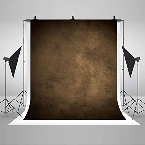 (COMOPHOTO 5x7ft Brown Abstract Backdrops for Photography Pictorial Cloth Head Shot Portrait Photo Studio Backgrounds Screen for Photobooth Props)