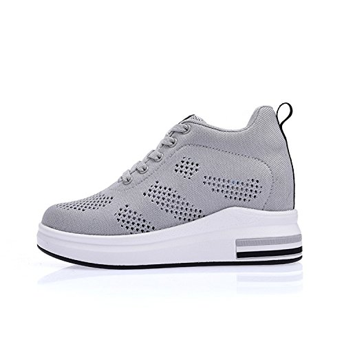 Women Summer Shoes Shoes Shoes Breathable Women Wedges Gray Casual Sneakers Platform Perfues TZqw7q