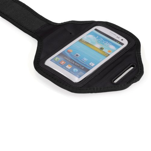KingTECH Sport Armband Gym Band Case Pouch Exercise Case for Samsung Galaxy i9300 (Black)