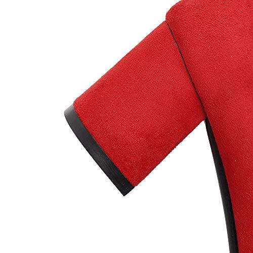 Red EU Femme 5 AdeeSu Compensées Rouge SDC05563 36 Sandales zFSX4qxRwT