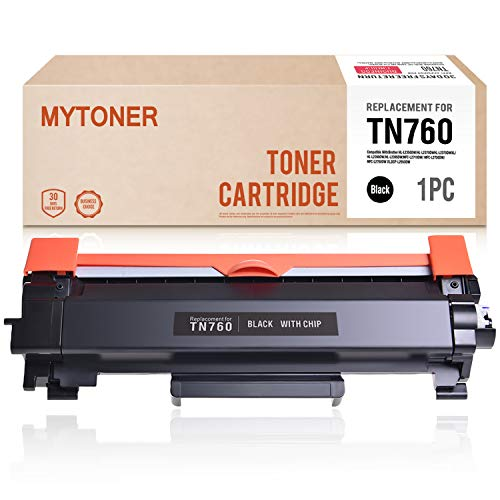 MYTONER (CHIP) Compatible Brother TN760 TN730 TN-760 Toner Cartridge High Yield for Brother HL-L2350DW HL-L2390DW HL-L2395DW HL-L2370DW DCP-L2550DW MFC-L2710DW MFC-L2730DW MFC-L2750DW