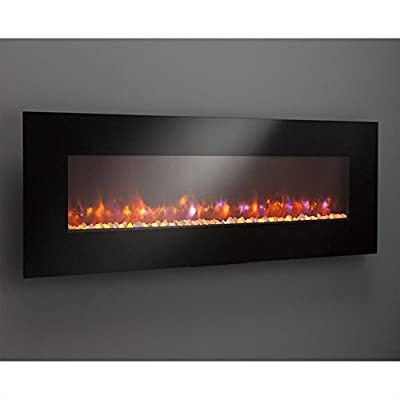 Outdoor Great Room GE-70 70-Inch Gallery Linear Electric LED Fireplace, Includes LED Backlighting, Heater, IR Remote, 6-Feet Cord, Stonefire Media