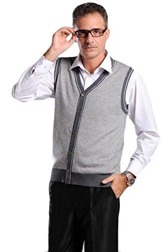 Vogstyle Herren Weste Gr. M,  - Light Grey-Style 4