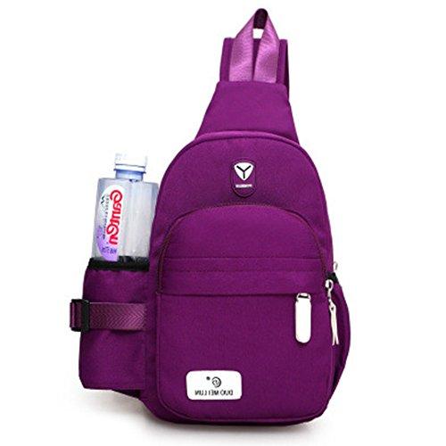 Bag Chest Women Holder with Bottle Crossbody Shoulder Bag Hossty Water Purple Versatile UwHTq