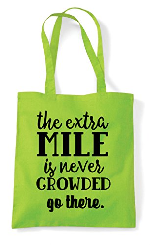 Shopper Mile Tote Bag Crowded Never Go Is Extra Lime The Statement There fwvq48