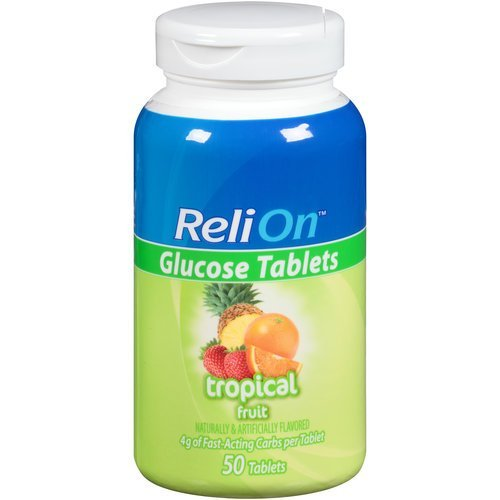 Relion Glucose Tablets - Tropical Fruit Flavor - 50 counts