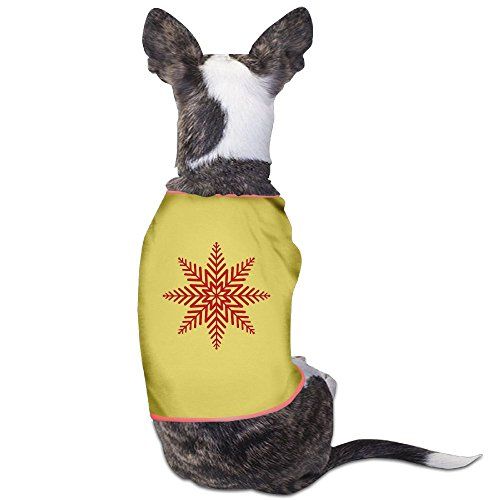 Fonsisi Lovely Dog Shirts Red Christmas Snowflakes Clipart Pet Puppy Tank Top Vest Canine T-Shirt