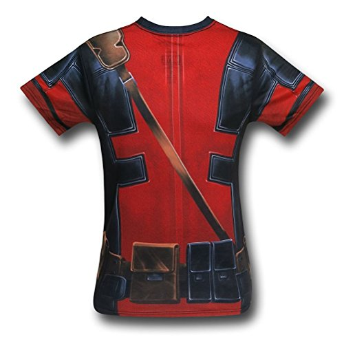 Deadpool Movie Sublimated Costume T-Shirt- (Deadpool Costume Shirt)