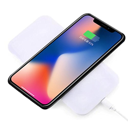 Price comparison product image Wireless Charger,AutumnFall Qi Wireless Charger Pad For IPhone 8/8 Plus/X / Samsung S6/ S6 Edge /S7 / S7 Edge/S8 /S8 Plus (White)