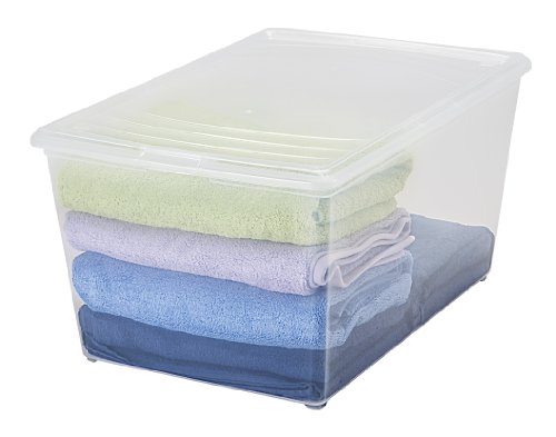 IRIS 64 Quart Modular Storage Box, 8 Pack, Clear