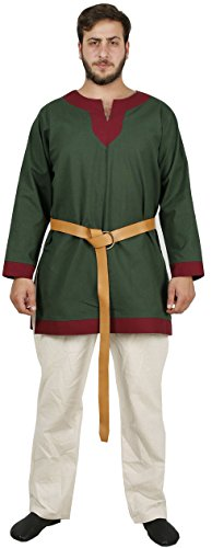 Live From E Halloween Costumes (ARTHUR Medieval Tunic by CALVINA COSTUMES - Formen - Made in TURKEY, M-Green)