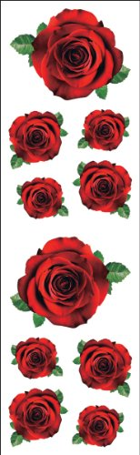 Mrs Grossman Stickers-Red Roses