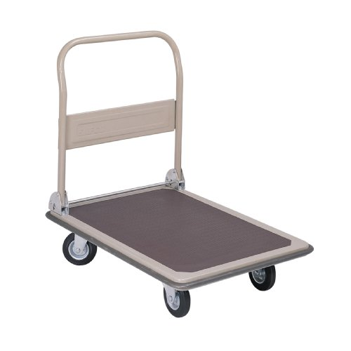 - Safco Products 4078 Fold Away Large Platform Utility Hand Truck, Tropic Sand