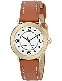 Women's 'Riley' Quartz Stainless Steel and Leather Casual Watch, Color:Brown (Model: MJ1576)