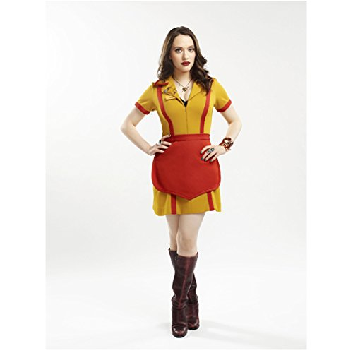 - 2 Broke Girls Kat Dennings as Max in Waitress Uniform and Boots Hands on Hips 8 x 10 inch photo