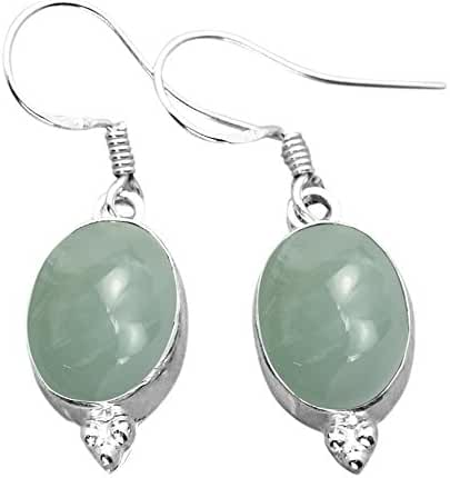 12.00ctw Genuine & Created Gemstone & 925 Silver Plated Dangle Earrings Made By Sterling Silver Jewelry