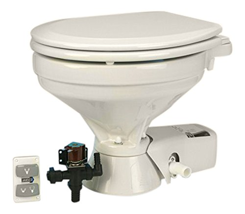 Jabsco 37045-1094 Quiet Flush Electric Toilet, EMC, Freshwater, Household Size, 24 Volt by Jabsco (Image #1)
