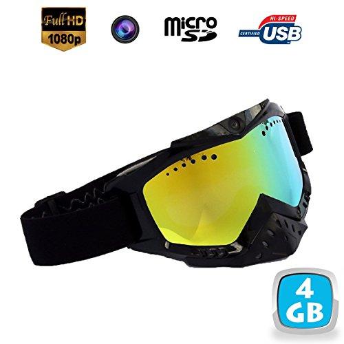 Yonis - Lunettes Caméra Sport Embarquée Masque De Ski Hd 720P 4Go Noir - Noir