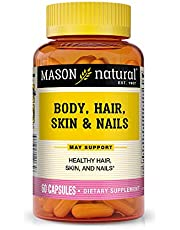 Mason Natural, Body Hair Skin & Nails Beauty Formula Vitamins, 60 Capsule, Multivitamin Dietary Supplement With Biotin and Calcium Supports Healthy Hair, Skin, Nails and Overall Wellness